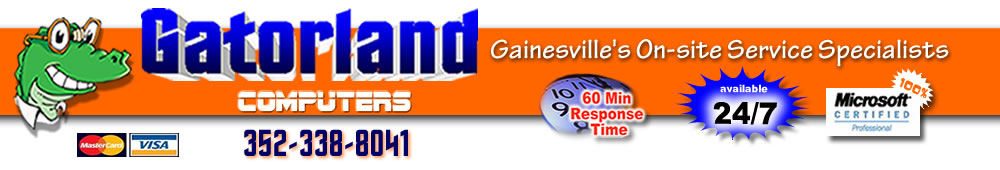 Gatorland Computers - Gainesville's On-site Service Specialists - 352-338-8042